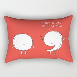 positive punctuation Rectangular Pillow