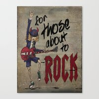 acdc Canvas Prints featuring For Those About To Rock by Even In Death