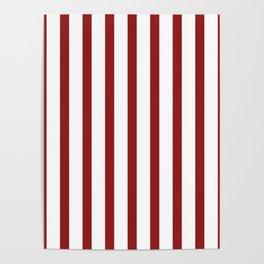 Red Vertical Stripes Design Poster
