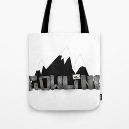 Flowline Letterform Tote Bag