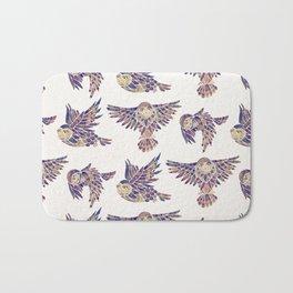 Owls in Flight – Mauve Palette Bath Mat