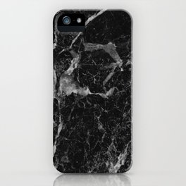 Black and gray marble iPhone Case
