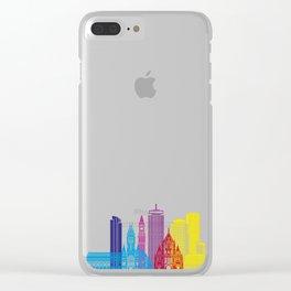 Boston V2 skyline pop Clear iPhone Case