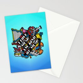 I love music, any kind of music Stationery Cards
