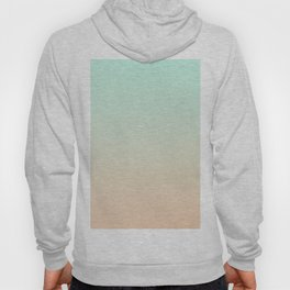 MELLOW TIMES - Minimal Plain Soft Mood Color Blend Prints Hoody