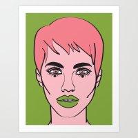 mod Art Prints featuring Mod by Grace Teaney Art