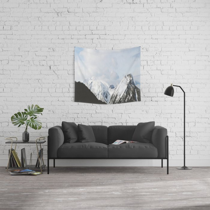 Splice through the clouds Wall Tapestry