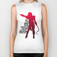 britney Biker Tanks featuring Britney Circus by Tadeu Marques