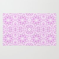 floral pattern Area & Throw Rugs featuring floraL pattern Lavender by 2sweet4words Designs