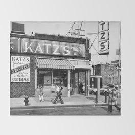 Katzs Deli NYC Throw Blanket