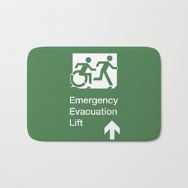 Accessible Means of Egress Icon, Emergency Evacuation Lift / Elevator Sign Bath Mat