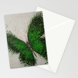 Emerald Butterfly Stationery Cards