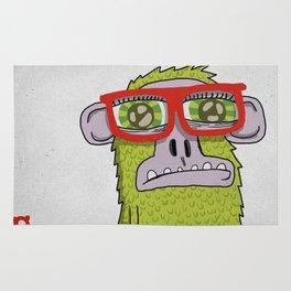 005_monkey glasses Rug