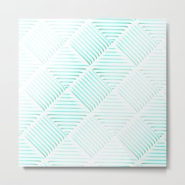 Diagonal Stripes Background 40 Metal Print