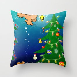 The Christmas Angel and the Missing Star Throw Pillow