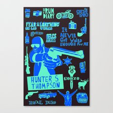 Tribute to Hunter S. Thompson Canvas Print