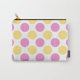 Yellow and pink polka dots Carry-All Pouch