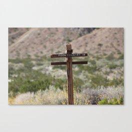 Moon Country Sign Coachella Valley Wildlife Preserve Canvas Print