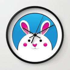 Chubby Bunny Wall Clock