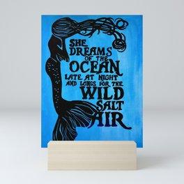Mermaid Wild Salt Air Painting Mini Art Print
