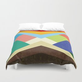Geometric - Abstract - Triangles - V1 Duvet Cover