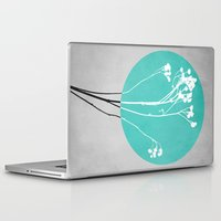 decal Laptop & iPad Skins featuring Abstract Flowers 1 by Mareike Böhmer