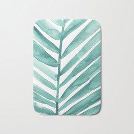 Green Palm Leaf Crop Bath Mat