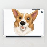 corgi iPad Cases featuring Corgi by Alba Ferrari