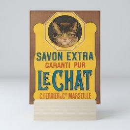 Nostalgie savon extra garanti pur le chat. circa 1905 Mini Art Print