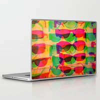 sunglasses Laptop & iPad Skins featuring Sunglasses by Kaos and Kookies