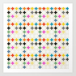 Cross Pattern Art Print