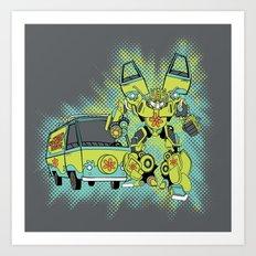 Mystery Autobot Art Print