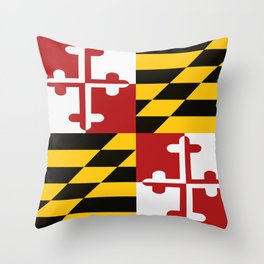 Maryland Colours Throw Pillow