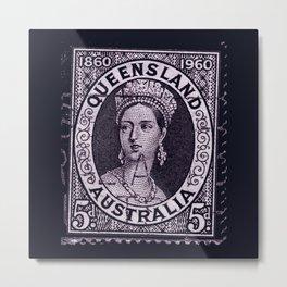 Queensland Stamp Metal Print