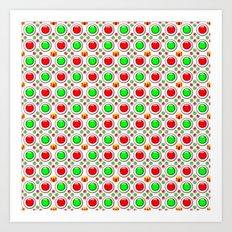 Christmas Tree Balls Pattern Art Print