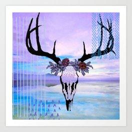 SkullandFlowerCrown Art Print