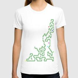 R Experiment 7 (Xmas snake tree) T-shirt