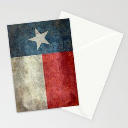 Texas state flag, Vintage banner version Stationery Cards