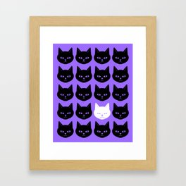 Cats Purple Framed Art Print