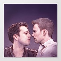 stucky Canvas Prints featuring Stucky (Kiss Me) by maichan