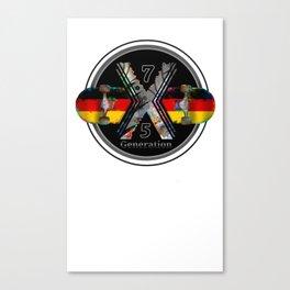 1975 Generation X German Skateboard Canvas Print