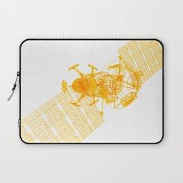 Explorer Schematic Orange On White Laptop Sleeve