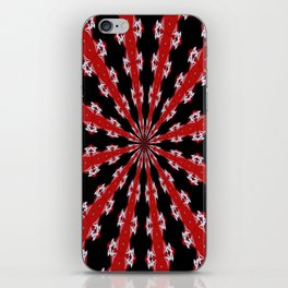 Red Black and White Abstract iPhone Skin