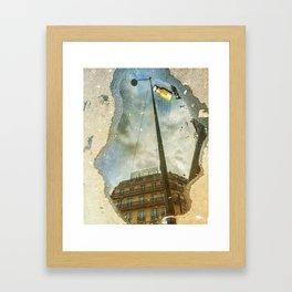 Galleries La Fayette Street Lamp & Orange Juice Framed Art Print