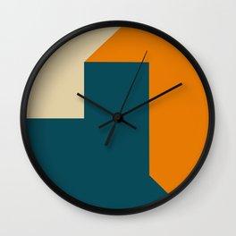 Abstract geometric in orange Wall Clock
