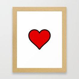 Heart Shape Digital Illustration, Modern Artwork Framed Art Print