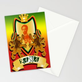 Jah King Rasta Crest Stationery Cards