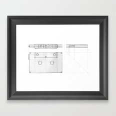 Cassette Tape  Projection Framed Art Print