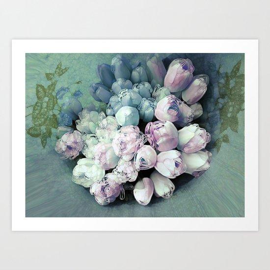 Tulips Antique Art Print