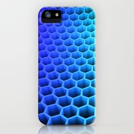 3D Colorful Honey Comb Hexagon Pattern Ultra HD iPhone Case